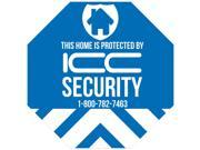 Faux Security Home Signs - Protected by ICC Security Yard Sign - 4 Pack