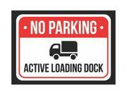 No Parking Active Loading Duck Print Red, White And Black Notice Parking Plastic Small Sign - 1 Pack Of Signs, 7.5x10.5 9SIAC7W5EU6099