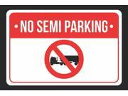 No Semi Parking Print Red, White and Black Notice Parking Plastic Large Sign - 6 Pack of Signs, 12x18