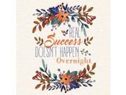 6 Pack Aluminum Real Success Doesnt Happen Overnight Quote Motivational Sign, 12x12