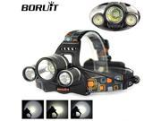 Boruit JR-3001  XM-L T6 +2R5 LED Headlight 18650 Bicycle Bike Headlamp Rechargeable Head Lamp Super Bright Camping 9SIAC855FZ3068