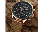 CURREN Mens Watches Top Brand Luxury Gold Black Quartz Watch Men Fashion Waterproof Stainless Steel Sport Clock Male Wristwatch 9SIAC855PV1604