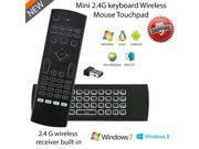 MX3 Mini Gaming Keyboard Air Mouse Backlight Wireless 2.4GHz IR Learning Fly Air Mouse Backlit Microphone For Android TV Box PS3 9SIAC856K36262