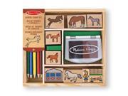 Melissa & Doug - Horses Stamp Set 9SIAC9055T4803