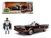 1966 Classic TV Series Batmobile with Diecast Batman and Plastic Robin in the car 1/24 Diecast Model Car by Jada 9SIAC9B51W5194