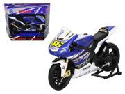 "2013 Yamaha YZR-M1 Valentino Rossi """"Monster"""" Moto GP #46 Motorcycle Model 1/12 by New Ray"" 9SIAC9B5X63942"