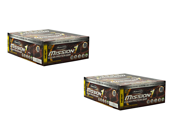 2 Packs of MuscleTech Mission1 Chocolate Brownie Clean Protein Bar (x 12 Bars in each Box)