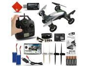 Fly & Drive 6-Axis 2.4 Ghz Air & Land Remote Control Quadcopter Drone Kit with E