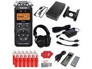 TASCAM Portable Digital Recorder with Microphones, DSLR Accessory Pack, External Battery Pack, AC Power Adapter, SanDisk 32GB Memory Card, 12 pcs AA Batteries a 9SIACAY7074249
