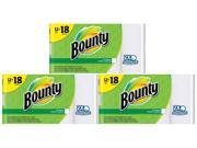 Bounty Paper Towels, White, Giant Rolls-12 Count, Pack of 3
