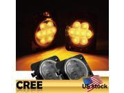 Addmotor JK 07 16 Front Fender Side Marker Amber CREE LED Light With Smoke Lens Jeep Wrangler