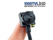 HD 1000TVL Mini HIDDEN Pinhole Audio CCTV Security Camera Wired Surveilance