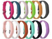 Moretek Flex 2 Accessory Bands for Fitbit Flex 2 / Fitbit flex2, With Chrome Claspor Soft Silicone Fitness Bracelet Strap ,Wrist Band Adjustable Repalcement