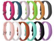 Moretek Flex 2 Accessory Bands for Fitbit Flex 2 / Fitbit flex2, With Chrome Claspor Soft Silicone Fitness Bracelet Strap ,Wrist Band Adjustable Repalcement 9SIACDX57G7206