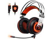 SADES A7 USB 7.1 Surround sound Professional Stereo Gaming Headphone Led Lighting Headsets with Microphone Vibration for Laptop PC 9SIACE55AS5682