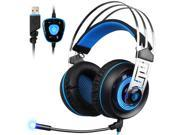 SADES A7 USB 7.1 Surround sound Professional Stereo Gaming Headphone Led Lighting Headsets with Microphone Vibration for Laptop PC 9SIACE55AS5750