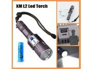 Super Bright Stainless Steel CREE XM L2 LED Flashlight Torch USB Charge 5 modes Rechargeable Power Bank Mobile Power Supply 18650 Battery Intelligent Flashlight