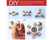 DIY Hexagon Fidget Spinner Toys with Premium Stainless Steel Bearing 2 Minutes Spin Time Brass 6 Stick Hand Spinner for Autism Adult ADHD Relief