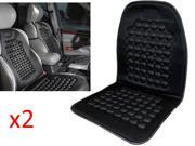 Kabalo Universal?Car Seat Massage Cushion. Black Padded Bead Pillow Seat Cover for Vans, Lorries & Any Vehicle. - Double Pack