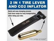 Zol 2 in 1 Bicycle Tire Lever and CO2 valve tire inflator lever with Rim Protector. CO2 cartridge not included. 9SIACG05N77966