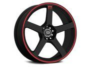 Motegi MR116 16x7 5x100/5x114.3 +40mm Black/Red Wheel Rim