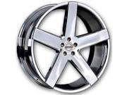 Heavy Hitters HH 15 22x10.5 5x114.3 38et Tru Chrome Wheels Rims