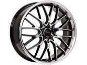 Drifz 302MB Vortex 16x7 5x100/5x114.3 +42mm Black/Machined Wheel Rim