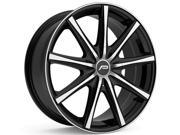 Pacer Evolve 17x7.5 5x108/5x112 +42et Mirror MF w/ G. Black Accent Wheels Rims