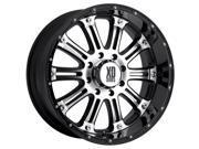 KMC XD Series Hoss 16X8/8x170 0et Black w/Machine Face Wheels Rims