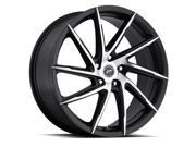 Platinum Hawk 17X7.5 5X4.50 Blk w/ Diamond Cut Face & Clear-Coat Wheels Rims