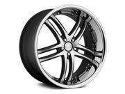 Concept One Rs-55 20X10 5X112 +43Et Matte Black Machined Wheels Rims