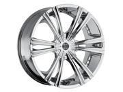 2Crave No.28 20x10 Blank +25et Chrome Wheels Rims