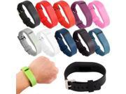 Replacement Wristband Bracelet Strap Band for Fitbit Flex Classic Buckle - White