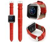 Hellfire - Replacement Leather Wristband Bracelet Band Strap for Fitbit Blaze - Red