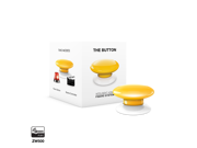 Fibaro FGPB 101 4 US The Button Z Wave Scene Controller Yellow