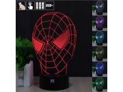 CT-toys Spider man 3D Night Light RGB Changeable Mood Lamp LED Light DC 5V USB Decorative Table Lamp Get a free remote control 9SIACKN5B19009
