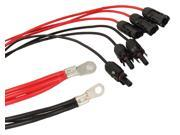 Solinba Solar Panel Extension Cable Adaptor 3 pairs of M F MC4 Connector 2pcs Copper Terminals 10m length