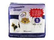 Wiki Wags® Male Dog Disposable Diaper Wraps Size Small Pack