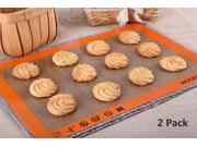 Modern Life Non Stick Silicone Baking Mat 2 Pack Extra Thick Half Sheet Bakeware Set BPA Free and FDA Approved