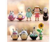 9 pcs / Set Mini My Neighbor Totoro Family Figure DIY Moss Micro Landscape Toys Summer Catch 9SIACN45BN5012