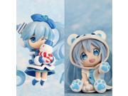"Japanese Anime Doll Cute Nendoroid White Bear Hatsune Miku Snow Miku PVC Action Figure Model Toy 4"""" 10cm 2pcs/set (Color: Blue)"" 9SIACN45C58977"