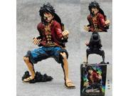 Hot ! NEW 1PCS18cm One piece black Monkey D Luffy action figure toys Christmas toy (Color: Red) 9SIACN45C58834