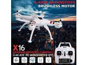 Vipwind BAYANGTOYS X16 Brushless 2.4G 4CH 6Axis RC Quadcopter RTF with Transmitter(This version without camera) (Size: Left Hand, Color: White)