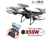 Vipwind Oversea Location X5SW-1 Wifi FPV RTF 2.4G 4CH RC Black quadcopter Camera Drone with HD Camera UAV
