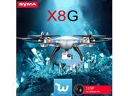 Vipwind Syma X8G 2.4G 4ch 6 Axis Venture with 5MP Wide Angle HD Camera RC Drone Quadcopter RTF Helicopter in Foam box (Size: 50 cm, Color: Silver)