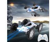 Vipwind 2.4GHz 4CH 2 In 1 Headless FPV Real Time RC Quadcopter Drone + Car (Color: White)