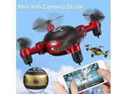 Vipwind With Camera Foldable Pocket Mini WIFI RC Quadcopter 2.4GHz 6-Axis Gyro 3D Hover FPV HD Video Drone 9SIACNE60P4746