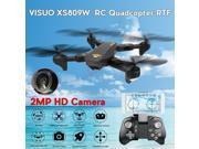 Vipwind VISUO XS809W WIFI FPV With 2MP HD Camera Headless Mini Foldable  Arm RC Quadcopter Drone RTF(Color:Black) 9SIACNE60P4450