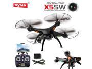 Vipwind Syma X5SW Wifi FPV 2.4G 4CH RC Quadcopter Drone With 2.0MP HD Camera Black (Color: Black)