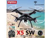 Vipwind Black X5SW Wifi FPV RTF 2.4G 4CH RC Black quadcopter Camera Drone with HD Camera (Color: Black)